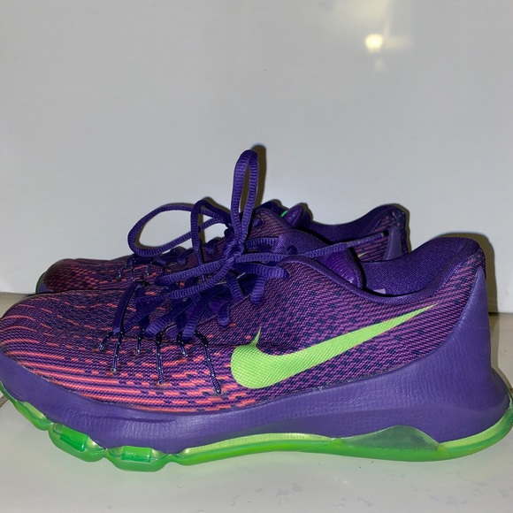 Purple And Green Kd 8s Basketball Shoes